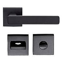 Дверная ручка DND by Martinelli FOLD 02 FO14T-ZNE с накладкой WC черный