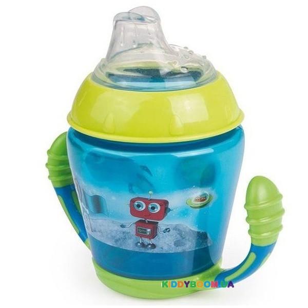 Кружка непроливайка с мягким носиком Toys, бирюзовая, 230 мл. Canpol 56/502_tur