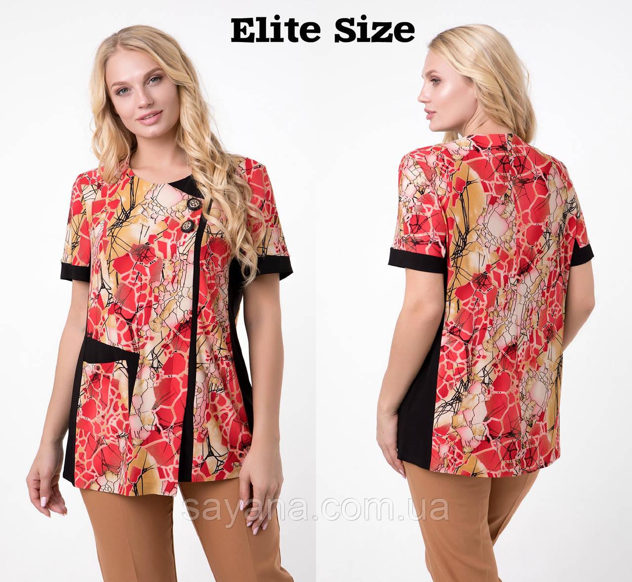 Женская блуза с декором в моделях, р-р 52-60. НО-16-0519