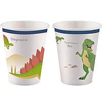 Праздничные стаканы Динозавры. Стаканы Динозавры.