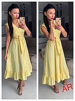 Платье женское летнее, красивое, стильное, миди, желтое, 504-075, фото 1