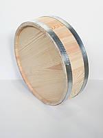 Срез бочки горизонтальный, диаметр 60 см, некрашеный