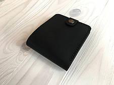 Кошелек мужской кожаный Goose™ Montis черный с монетницей, фото 3