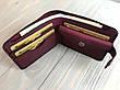 Шкіряний жіночий гаманець Goose™ Montis марсала з монетницею, фото 2