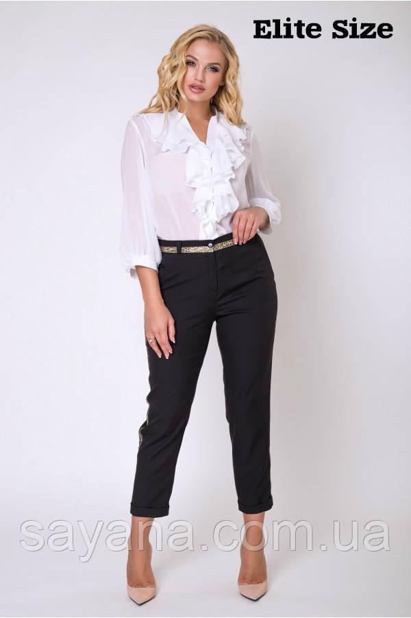 Женская блуза с декором в расцветках, р-р 50-56. НО-20-0519