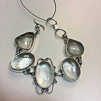 Нежный браслет кварц волосатик. Браслет с натуральным кварцем Волосы Венеры в серебре Индия, фото 1