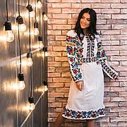 Платье с яркой вышивкой Нежность