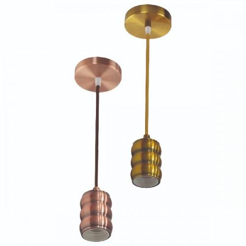 Светильник подвесной GAUSS Е27 (Медь, бронза, золото, хром)