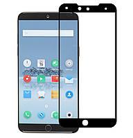 Защитное стекло 5D Full Glue для Meizu 15 Black (Screen Protector 0,3 мм)