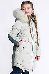 Детский зимний пуховик девочке DT-8277-6, 30-42р.