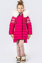 Детский зимний пуховик девочке DT-8261-9, 40р.