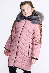 Детский зимний пуховик девочке DT-8287-15, 34р.