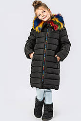 Детский зимний пуховик девочке DT-8266-8, 32р.