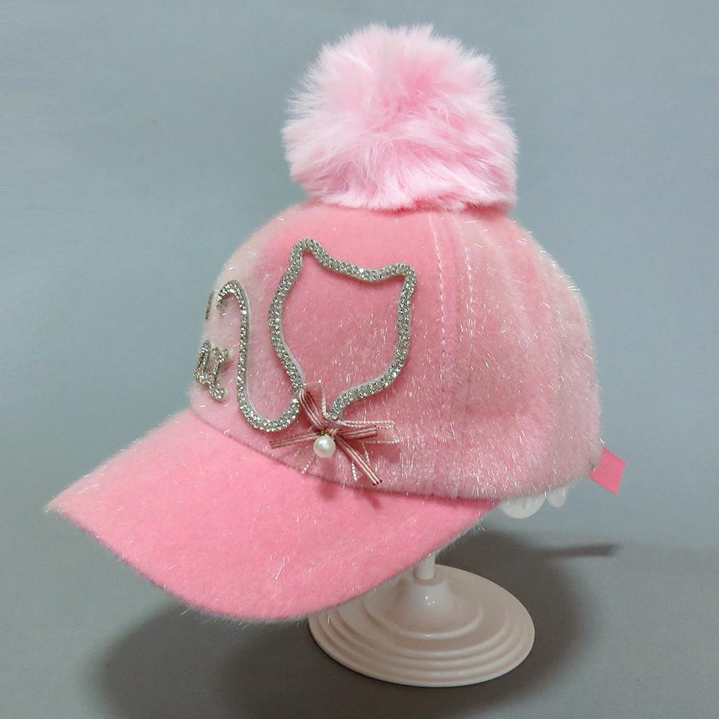 Теплая кепка Cat для девочки. 50-54 см