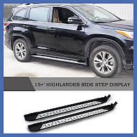 Toyota Highlander Пороги оригинальный дизайн