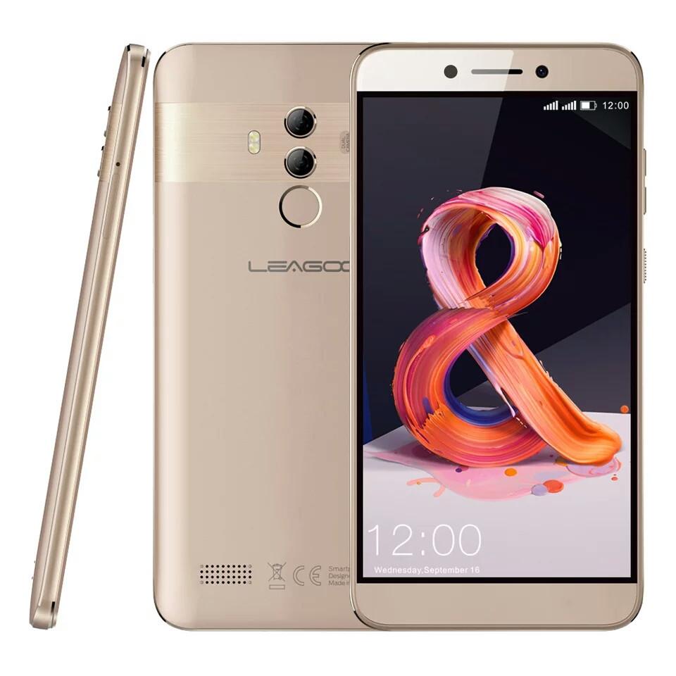 Смартфон Leagoo T8S Gold 4/32Gb FullHD 5.5 FaceID 3080мАч 13MP+чехол