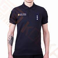 Поло футболка CoolPass ДСНС темно синий, фото 1