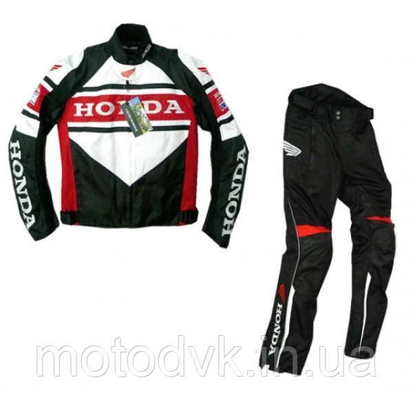 Мотокостюм Honda черный, размер XXL