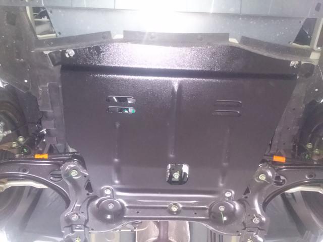 Защита под радиатор, двигателя и КПП на Ниссан Навара D40 (Nissan Navara D40) 2005-2015 г (закладные)