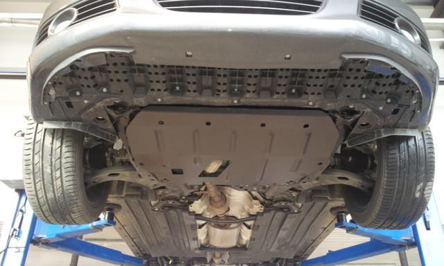 Защита под радиатор на Ниссан Патрол (Nissan Patrol) 2010 - ... г (металлическая)