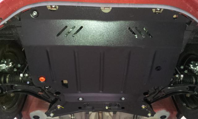 Защита под радиатор, двигателя и КПП на Ниссан Кашкай 2 (Nissan Qashqai II) 2017 - ... г (металлическая)