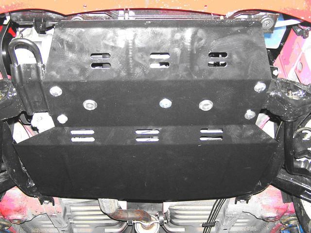 Защита КПП и Двигателя Ниссан Тиида (Nissan Tiida) 2004-2014 г (металлическая)