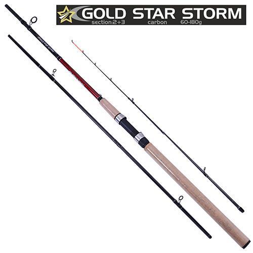 """Спиннинг карповый штекерный фидер """"Gold star storm"""" 3.0м 60-180г 2+3к SF23892"""