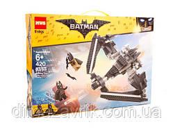 """Конструктор MWS 81905 (Аналог LEGO Batman Movie 76046) """"Поединок в небе на Бэтоплане"""" 420 деталей"""