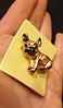 Брошь брошка значок боксер французский бульдог КАК ЖИВОЙ! КОРИЧНЕВЫЙ пес собака металл качество, фото 6