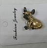 Брошь брошка значок боксер французский бульдог КАК ЖИВОЙ! КОРИЧНЕВЫЙ пес собака металл качество, фото 8