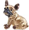 Брошь брошка значок боксер французский бульдог КАК ЖИВОЙ! КОРИЧНЕВЫЙ пес собака металл качество, фото 4