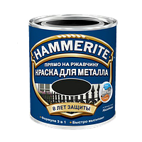Hammerite Satin фарба по металу Чорна напівматова 5 л, фото 1