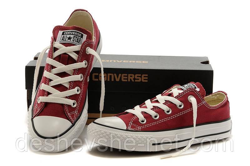 Кеды Converse ALL STAR (конверсы) Бордовые низкие в коробке