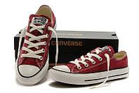 Кеды Converse ALL STAR (конверсы) Бордовые низкие в коробке, фото 1