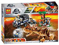 "Конструктор Bela 10926 ""Побег в гиросфере от карнотавра"" 595 деталей (аналог Lego Jurassic World)"
