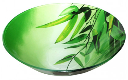 "Салатник 18х18х4.5см S&T ""Зеленый бамбук"" SNT 388"