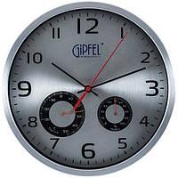 Часы настенные с термометром и гигрометром Gipfel 9413-G (30 см)