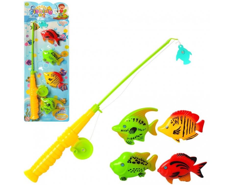 Игровой набор Рыбалка удочка, рыбки