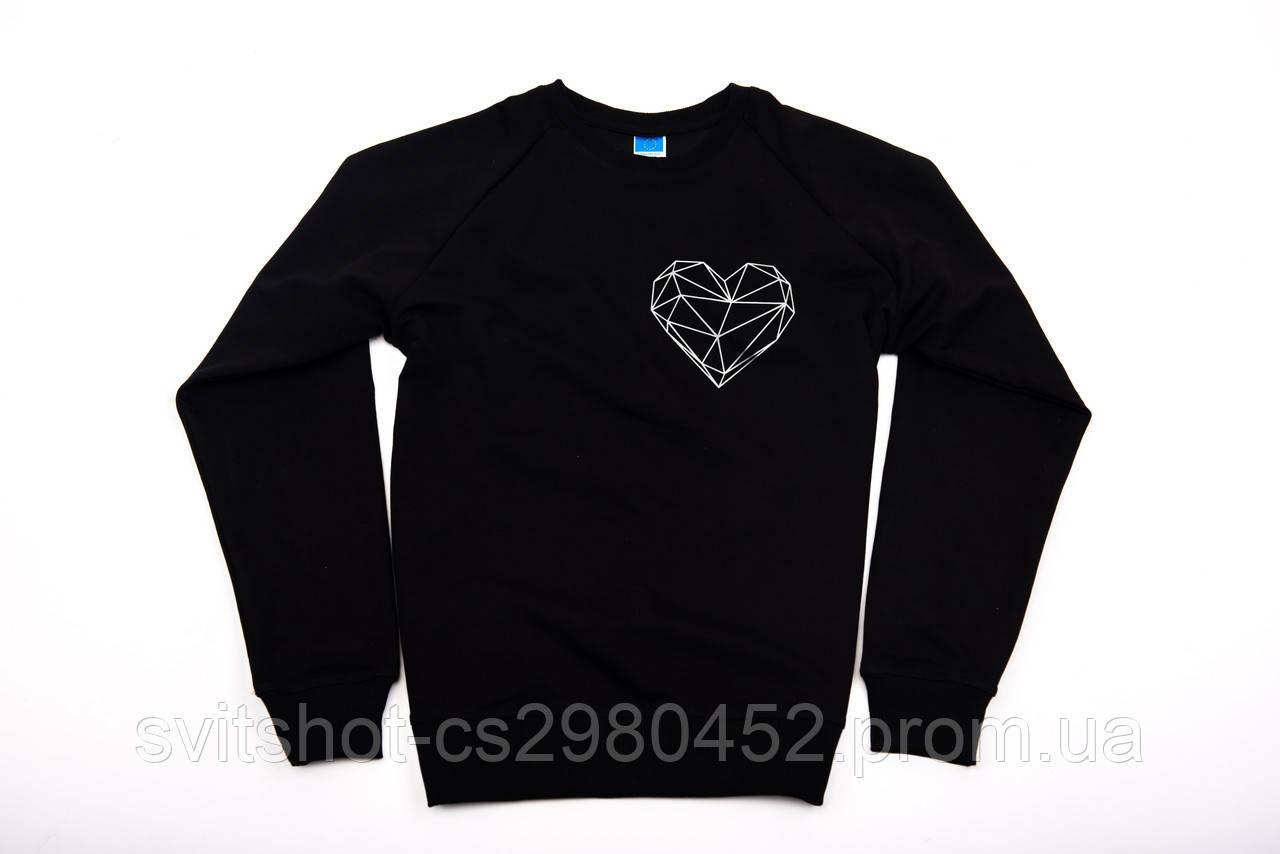 Свитшот printOFF lineheart черный размер L 001691