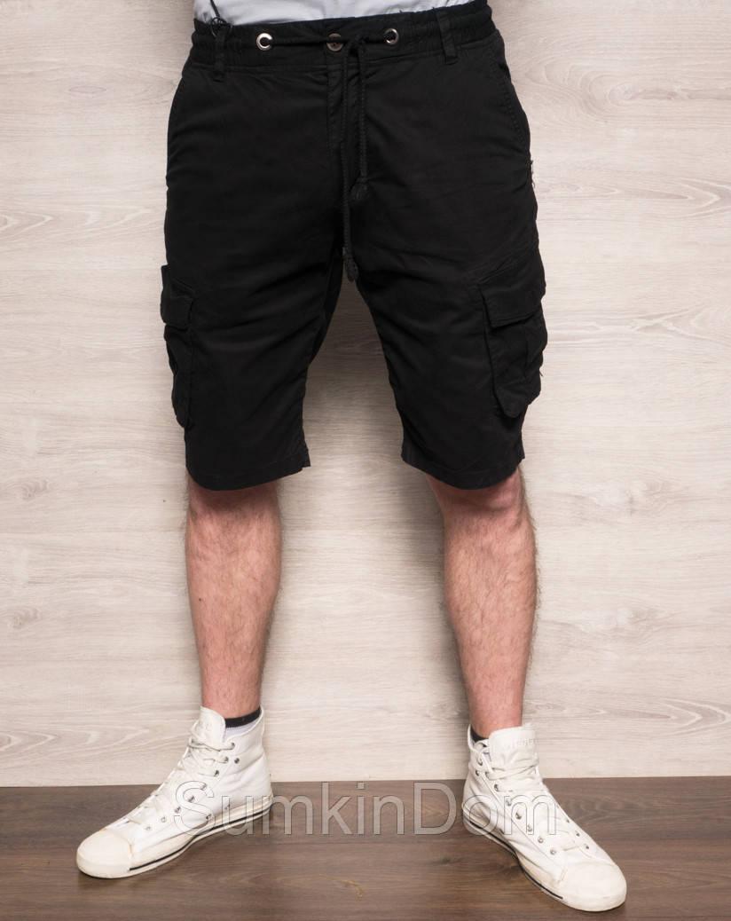 Шорты мужские с боковыми карманами черные X-FEEL 77876-1