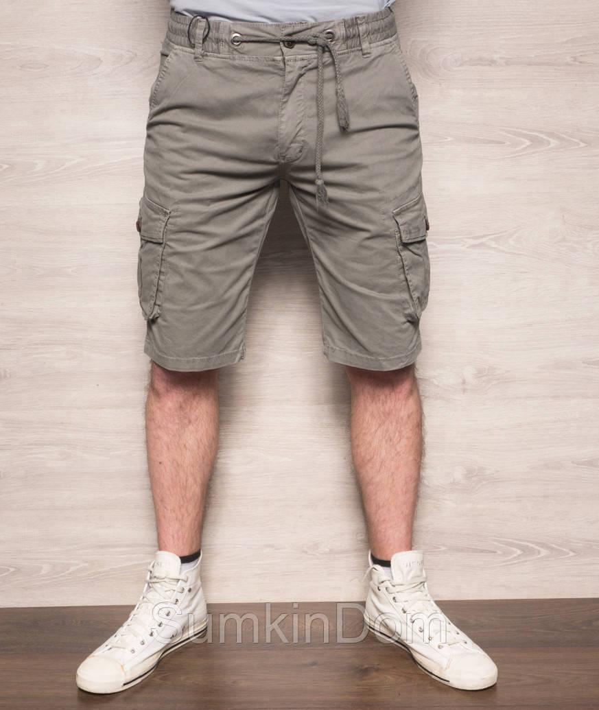 Шорты мужские с боковыми карманами серые X-FEEL 77876-4