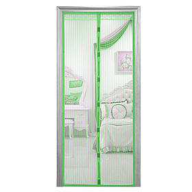 Москітна сітка на магнітах антимоскітна штора на двері HLV Mesh Зелена