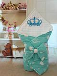 Двухсторонний конверт весна-лето-осень для новорожденных   78*78 см, фото 10