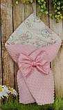 Двосторонній конверт - ковдра для новонароджених, весна/літо/осінь Морячок, фото 7