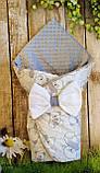Двосторонній конверт - ковдра для новонароджених, весна/літо/осінь Морячок, фото 9
