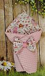 Двухсторонний конверт- одеяло  для новорожденных, весна/лето/осень, фото 7