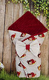 Двухсторонний конверт- одеяло  для новорожденных, весна/лето/осень, фото 9
