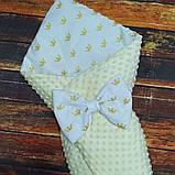 Двухсторонний конверт со съемным синтепоном для новорожденных Зайка, фото 8