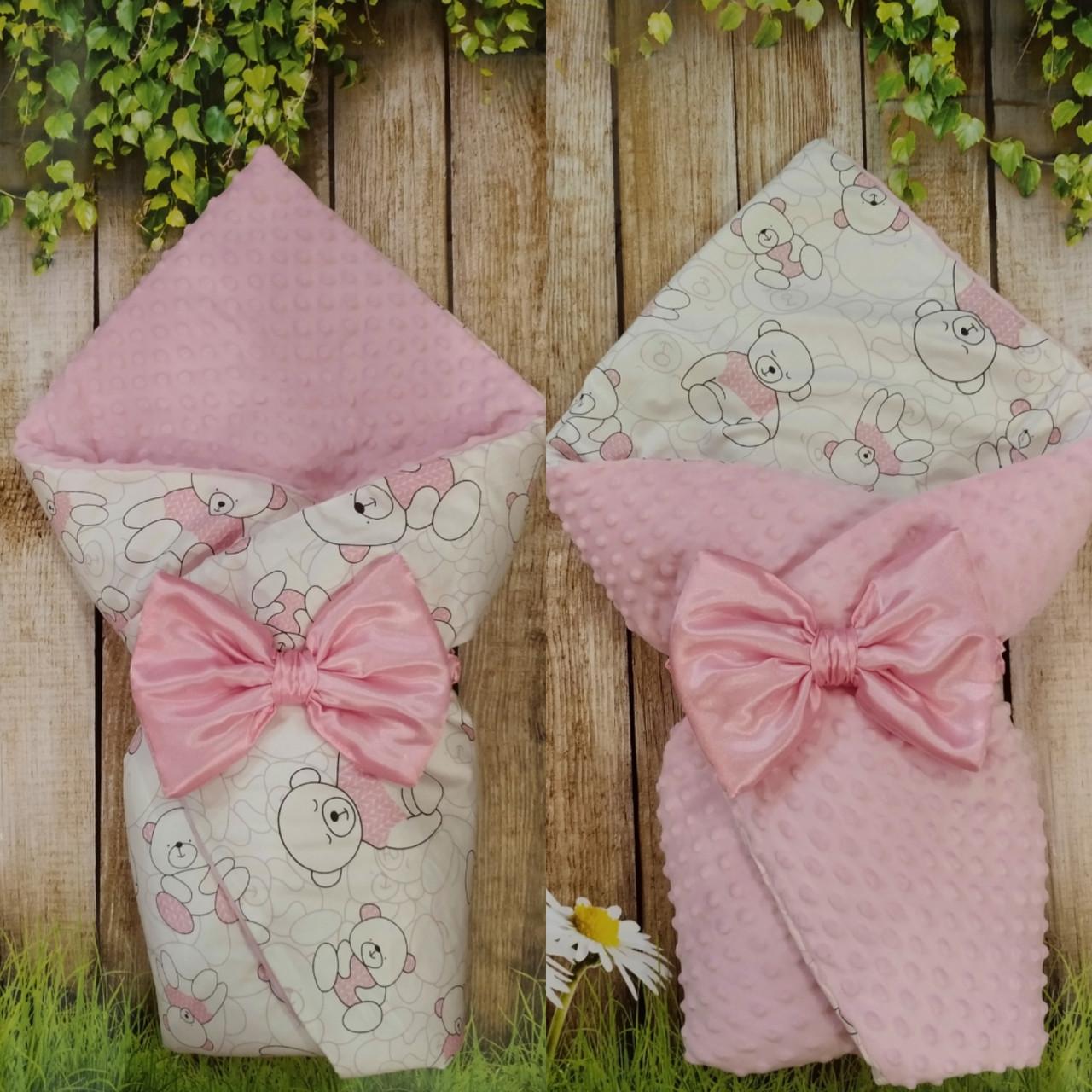 Двухсторонний конверт-плед  весна-лето-осень для новорожденных