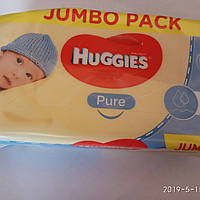 Салфетки влажные «Huggies Pure» 72 шт.